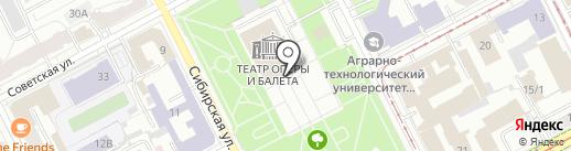 Пермский государственный академический театр оперы и балета им. П.И. Чайковского на карте Перми