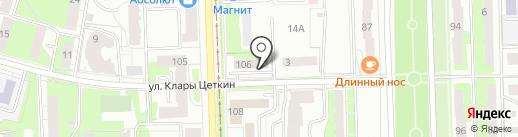 Такси-сервис на карте Перми