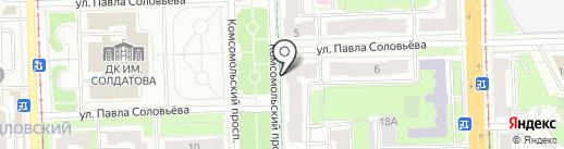 Зеленая на карте Перми