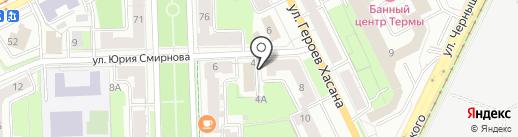 Вертера на карте Перми