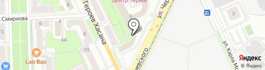 Арвисталь на карте Перми