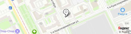 Первый Визовый Центр на карте Перми