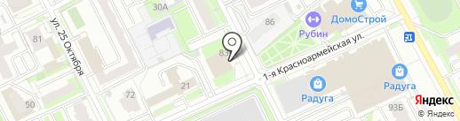 Черный тюльпан на карте Перми