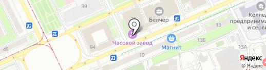 Часовой завод на карте Перми