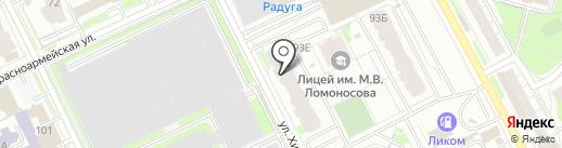Штопор на карте Перми
