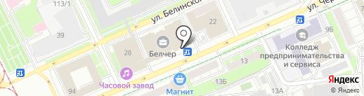 УспехСтрой на карте Перми