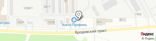 Теплый Угол на карте Перми