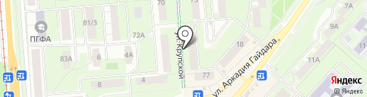 Ласточка на карте Перми