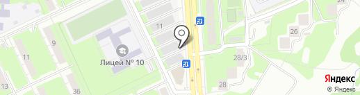 Сапожок на карте Перми