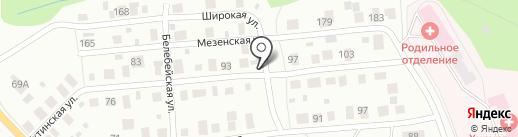 Добрая Баня на карте Перми