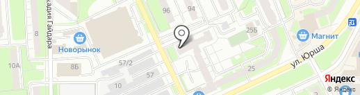 Магазин постельных принадлежностей на карте Перми