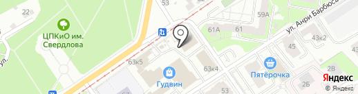 Марлин на карте Перми