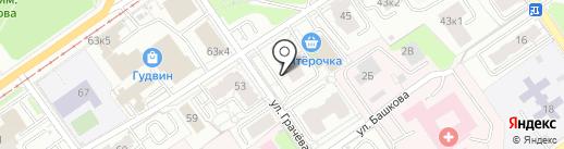 Глазовский на карте Перми