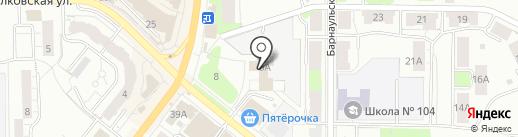 Магазин стальных и межкомнатных дверей на карте Перми
