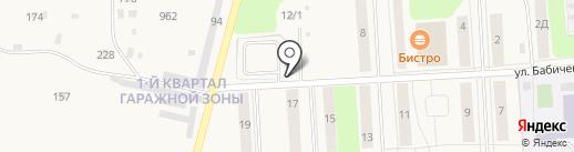 Автостоянка на карте Звездного