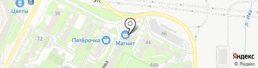 Зеленый парк на карте Перми