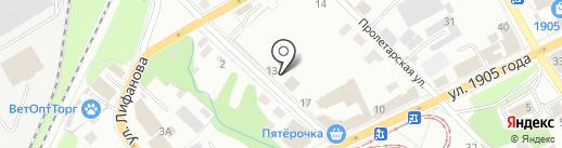 Веломастер на карте Перми