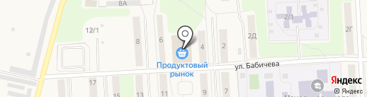 Магазин ивановского трикотажа на ул. Бабичева на карте Звездного
