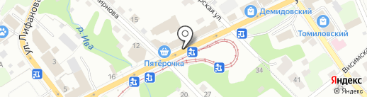 Сластёна на карте Перми