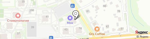 Грибоедовский на карте Перми