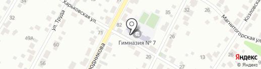 Гимназия №7 на карте Перми