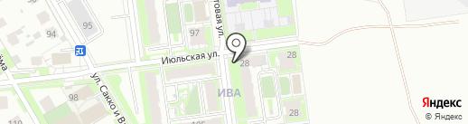 ИВА на карте Перми
