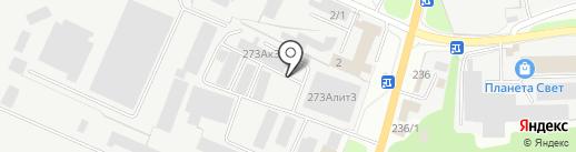 Антал на карте Перми
