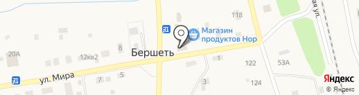Продуктовый магазин на карте Бершетя