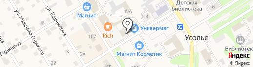 По размеру на карте Усолья