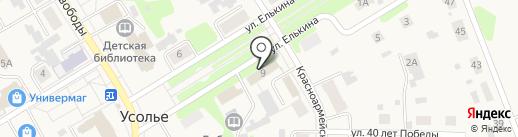 Отделение полиции МО МВД России на карте Усолья