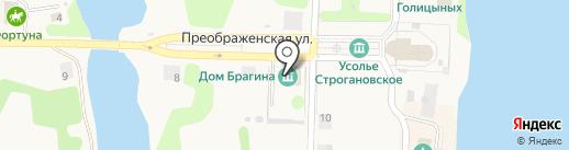 Усолье Строгановское на карте Усолья