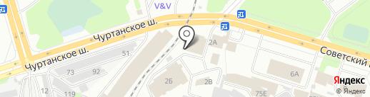 Т-34 на карте Березников