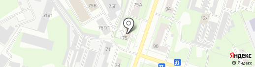 Гостиница в Березниках на карте Березников