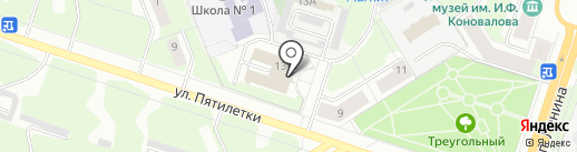 Березниковский на карте Березников
