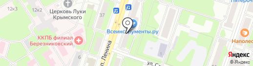 Каменный цветок на карте Березников