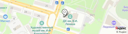 Парк культуры и отдыха на карте Березников
