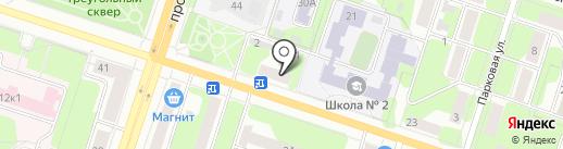 Красное & Белое на карте Березников