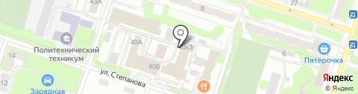 Мебелевск на карте Березников