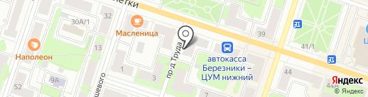 Московская ярмарка на карте Березников