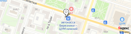 Норман на карте Березников