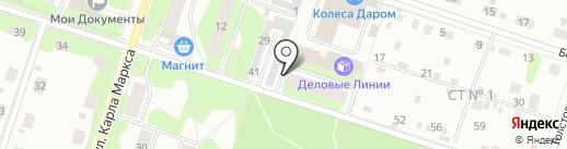 Каскад на карте Березников