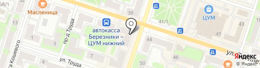 Колос на карте Березников