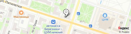 Планета на карте Березников