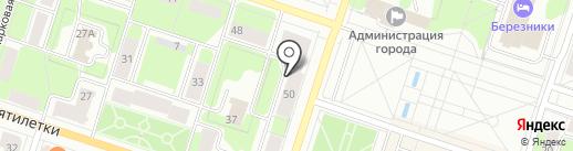 Видикон на карте Березников