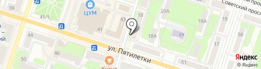 Крепость на карте Березников