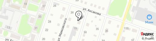 Таежный на карте Березников