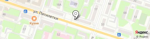 Посудный ряд на карте Березников