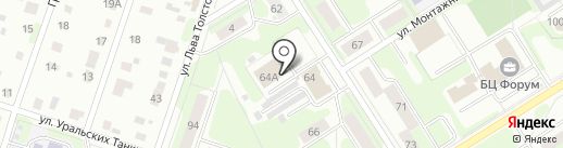 Норма на карте Березников