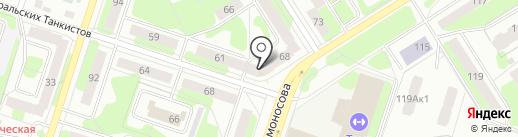 Спутник на карте Березников