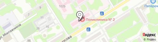 Городская поликлиника №2 на карте Березников